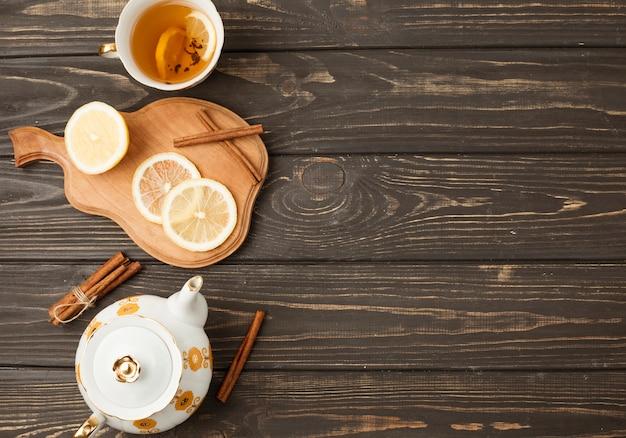 Tea composition with copyspace
