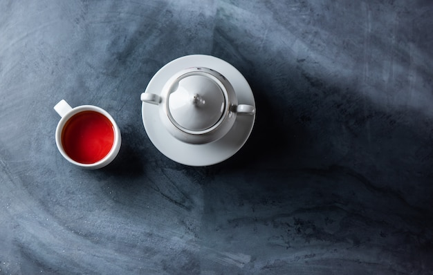 Tea cup on the table
