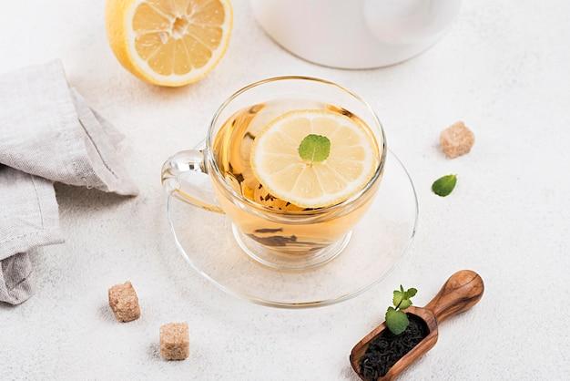 Tea cup with lemon