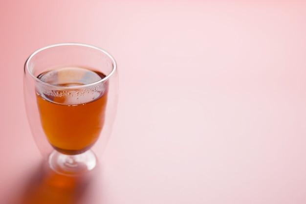 ガラスガラスのお茶、。