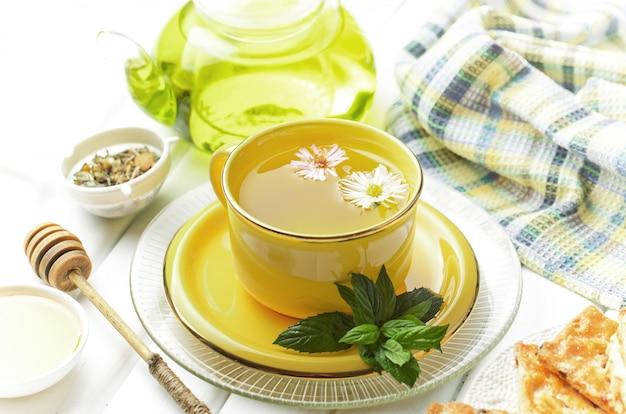 Фон чайные листья