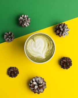 Tea matcha in a mug