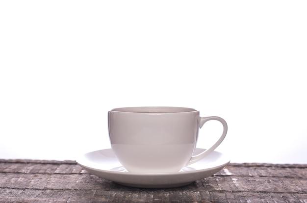Tea in a plain white cup
