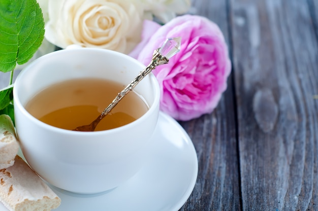 Tea in the shabby chic style