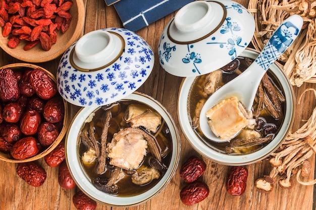 Tea tree mushroom ribs stew
