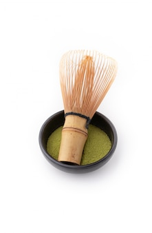 Tea whisk for matcha isolated
