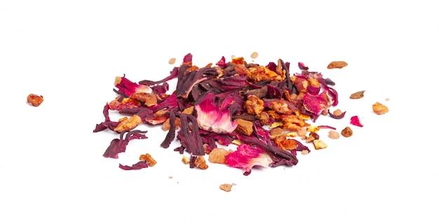 Чай с цукатами и лепестками роз