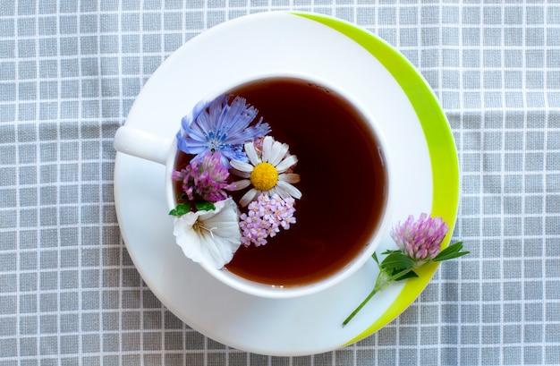 一杯の花とお茶