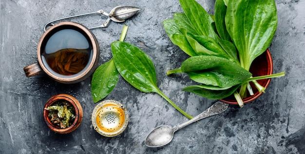 Tea with plantain