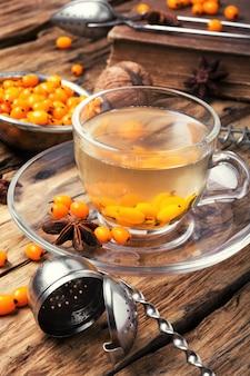 Tea with sea-buckthorn