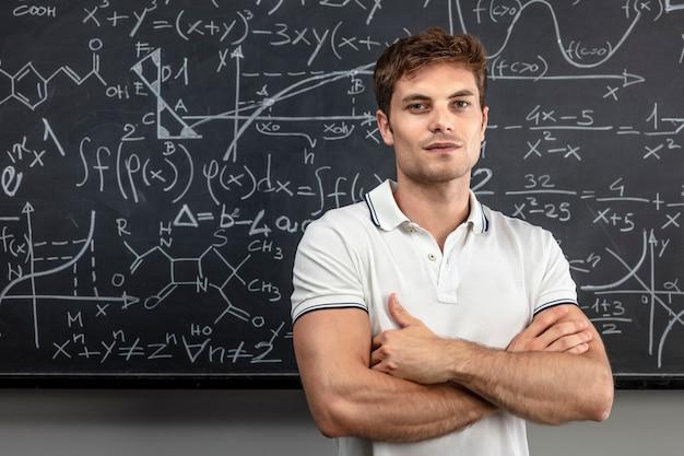 Teacher crossed arms