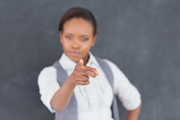 Teacher fingerpointing