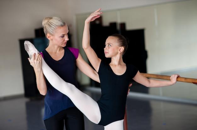 バレエスクールでのポジションの指導