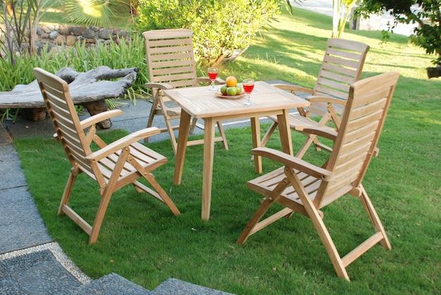 Teakwood garden furniture set outdoor