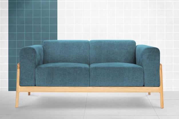 Teal blue modern sofa living room furniture
