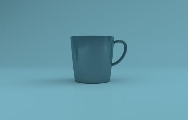 ティールカラーリアルなマグカップモックアップ3dレンダリング