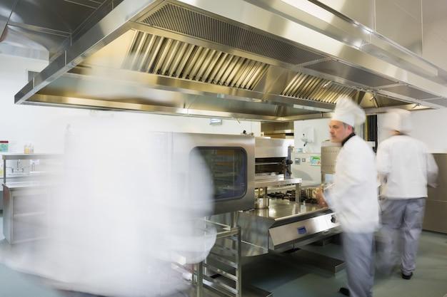 Team of chefs working in a kitchen