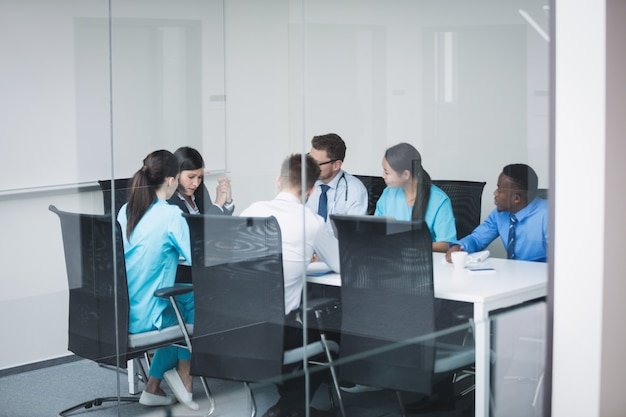 Team of doctors in a meeting