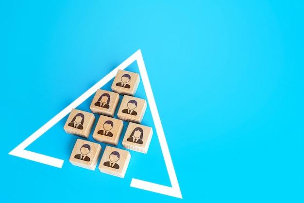 統一された規律ある編成のチームメンバー人々のグループの完全性と自律性