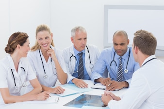 Team of doctors having a meeting