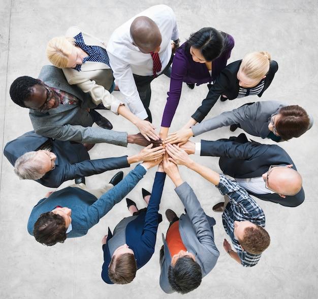Team teamwork togethernessコミュニティ接続のコンセプト