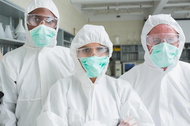 Team of three chemists