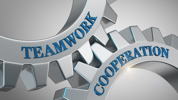 Teamwork cooperation concept
