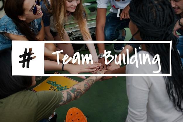 Графическое слово teamwork team team team team