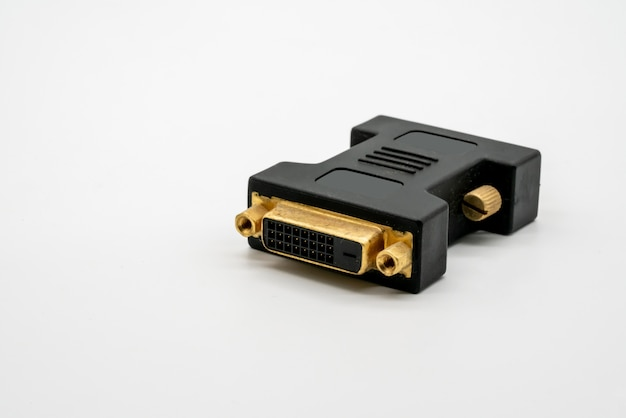 Tech adapter isolated on a white background. dvi connector.