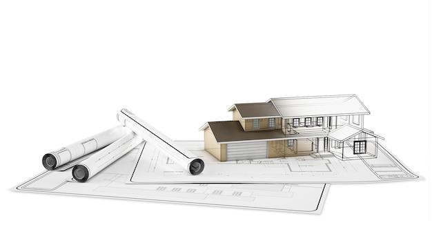Технический план дома на бумаге