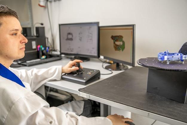 レーザーを使用したプラスチック成形品の3dスキャンおよび測定のための技術的にプロフェッショナルなマシン