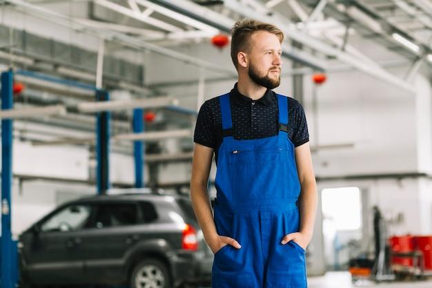 Technician at car workshop