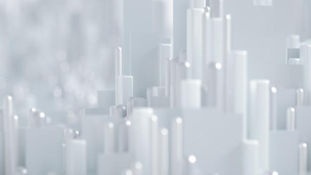 Техно хай-тек фон геометрия куб абстракция 3d иллюстрация