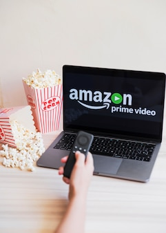 Technological device with amazon prime video app