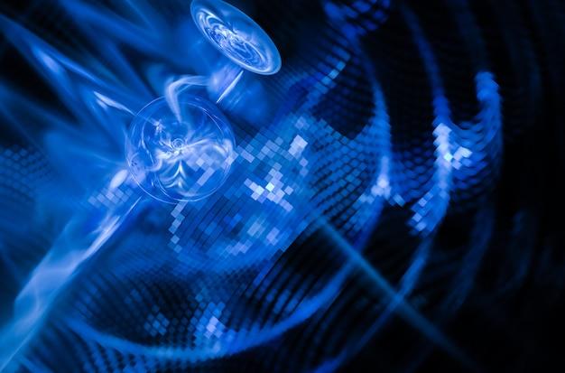 技術的な織り目加工の背景。フラクタルグラフィック。科学技術の概念。