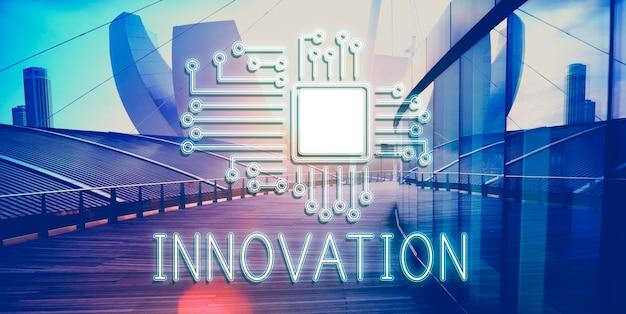 기술 회로 프로세서 혁신 네트워크 개념