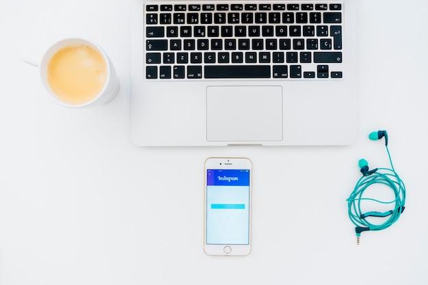 기술, cofee 및 instagram