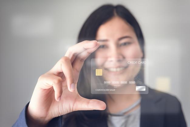 技術デジタル接続とビジネスクレジットバンキングのコンセプト。