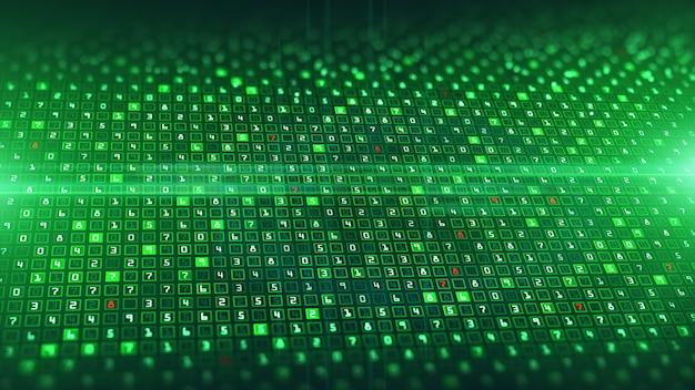 テクノロジーデジタルデータ分析とデータバイナリコーディング