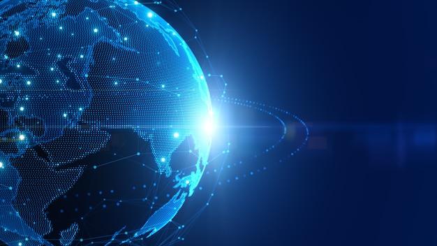 기술 디지털 데이터 네트워크 연결