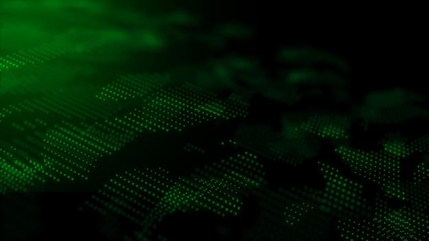 Технология цифровых частиц динамического абстрактного фона