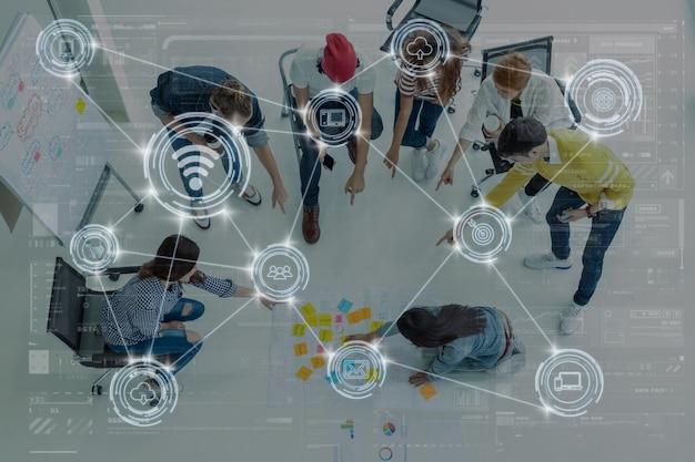 Технология цифрового виртуального экрана и беспроводного подключения