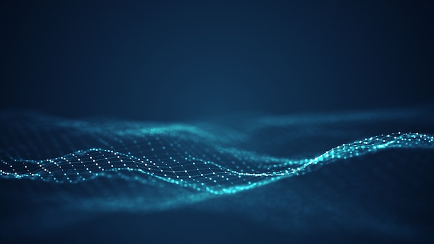 Technology digital wave  .