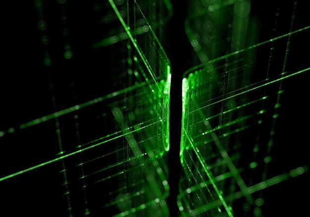 Tecnologia linee sfondo verde