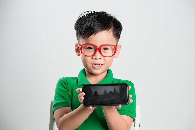 Technology, home, advertising and childhood concept