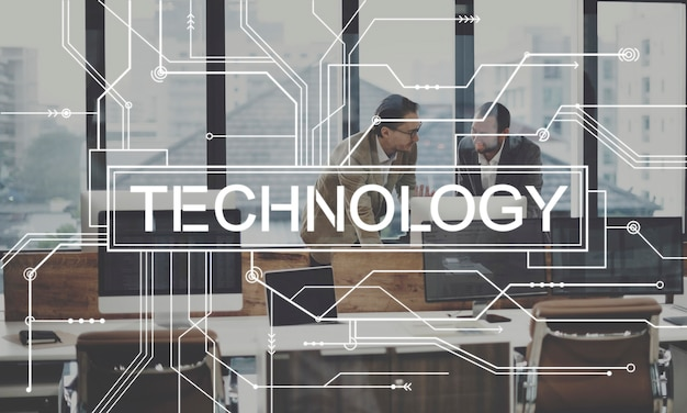 技術革新進化ソリューションデジタルコンセプト