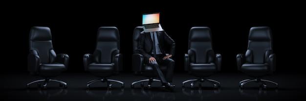 Technology mind concept 3d rendering