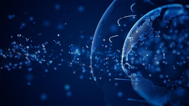 Technology network data connection digital data network
