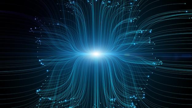 Технология сетевого подключения к данным с линиями и точками