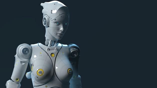 テクノロジーロボットsaifiロボット3dレンダリング